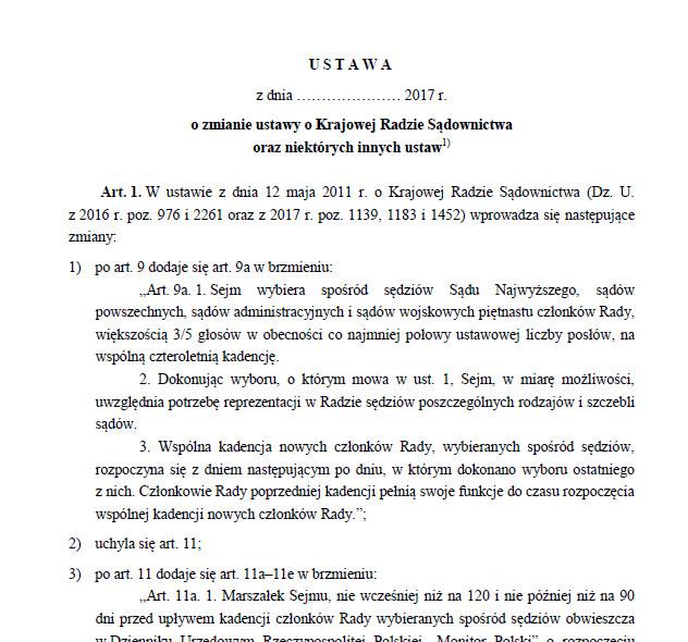 Projekt ustawy o KRS