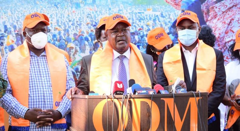 ODM party politician David Were when he won the ODM nomination to vie in Matungu by-election