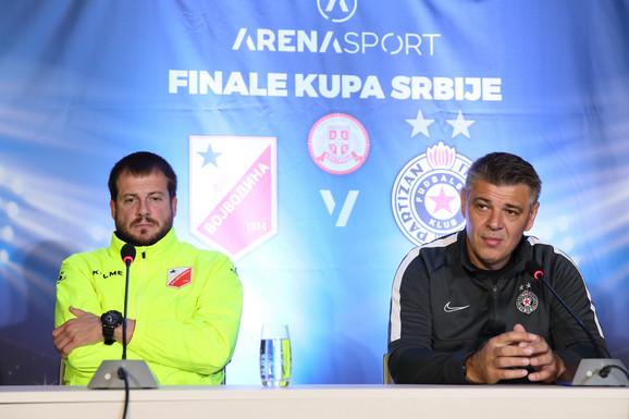 Nenad Lalatović i Savo Milošević pred finale Kupa