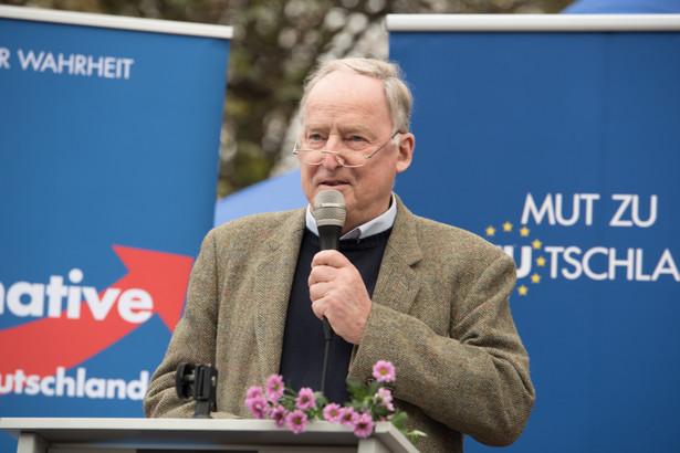 Alexander Gauland - szef AfD (Alternatywy dla Niemiec)