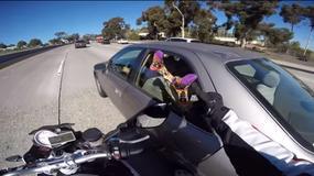 Motocyklista z poczuciem humoru