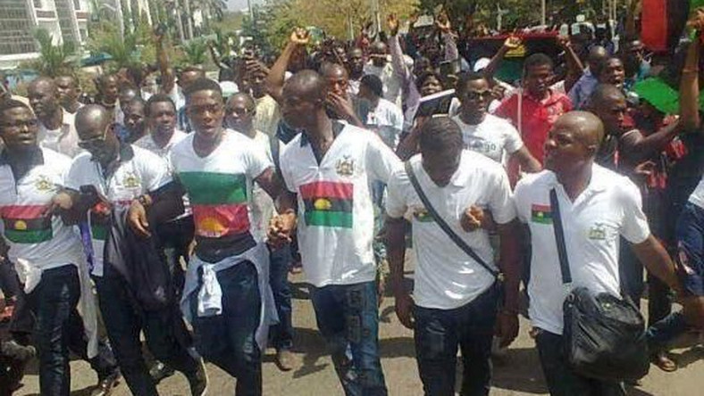 Pro-Biafra protest in Abuja on November 23, 2015