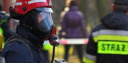 Pożar wysypiska śmieci koło Oławy