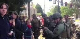 Bitwa policji z neonazistami
