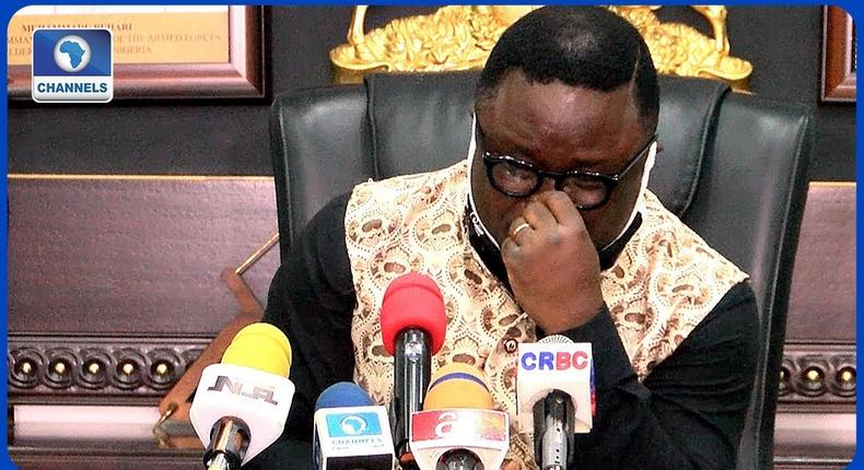 Cross River Governor,  Ben Ayade. [Youtube/Channels TV]