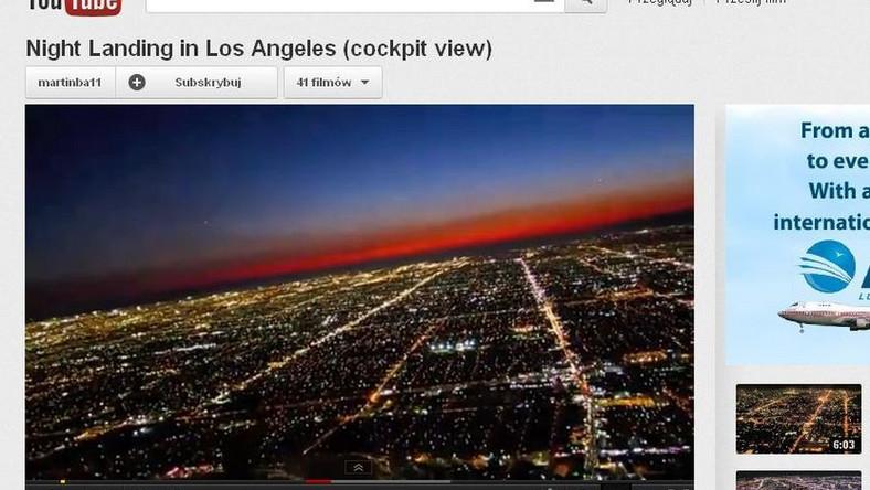 Lądowanie w Los Angeles z perspektywy pilota