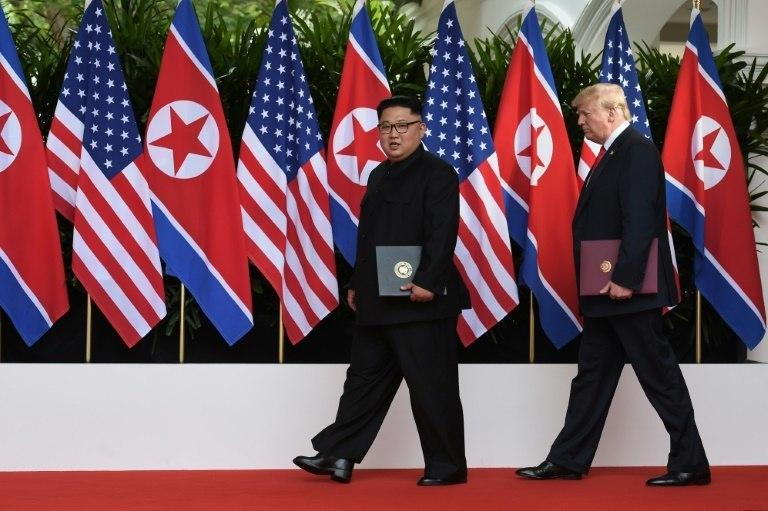 "Kim Jong Un agreed to ""work towards complete denuclearisation of the Korean Peninsula"" in return for security guarantees during the historic meeting with President Donald Trump last month in Singapore"