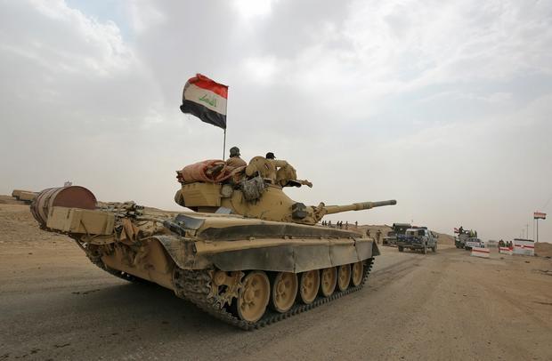 Czołg T-72  podczas walk w Iraku
