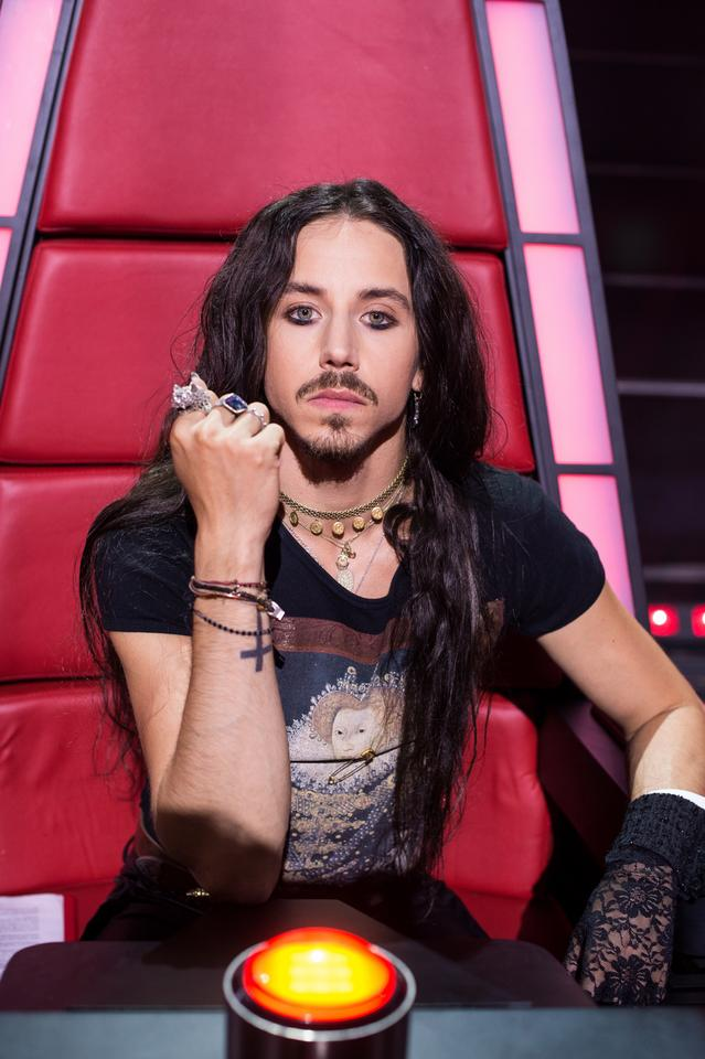 "Michał Szpak na planie programu ""The Voice of Poland 10"""