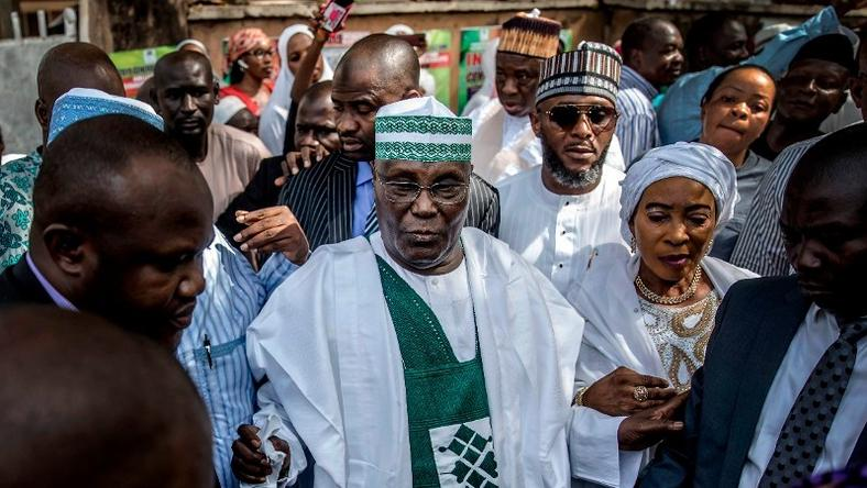 Atiku, Wife Cast Their Votes In Adamawa2