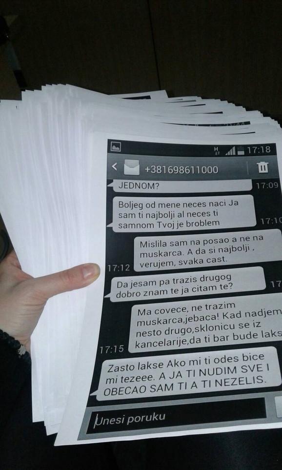 Sekretarici poslao 15.000 lascivnih poruka