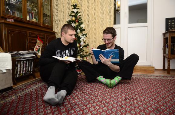 Mihailo sa Matijom Anđelkovićem
