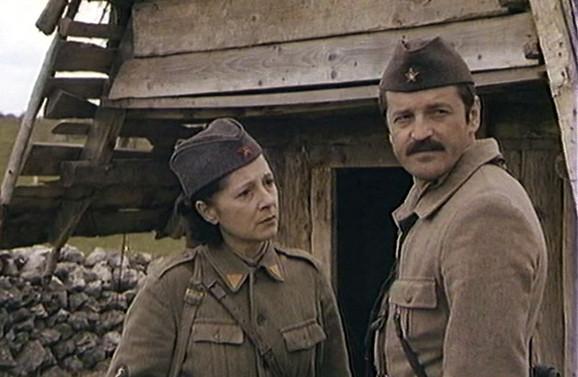 Milena Dapčević sa Markom Nikolićem u filmu