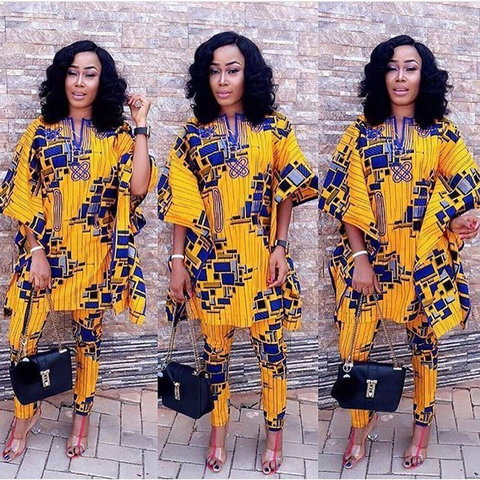 Must-have agbada ankara gowns styles for fashionable ladies   [Source: Pinterest]