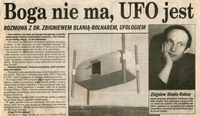 Znalezione obrazy dla zapytania: jan wolski ufo