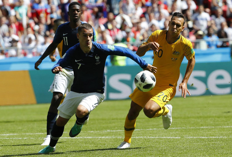 Fudbalska reprezentacija Francuske, Fudbalska reprezentacija Australije