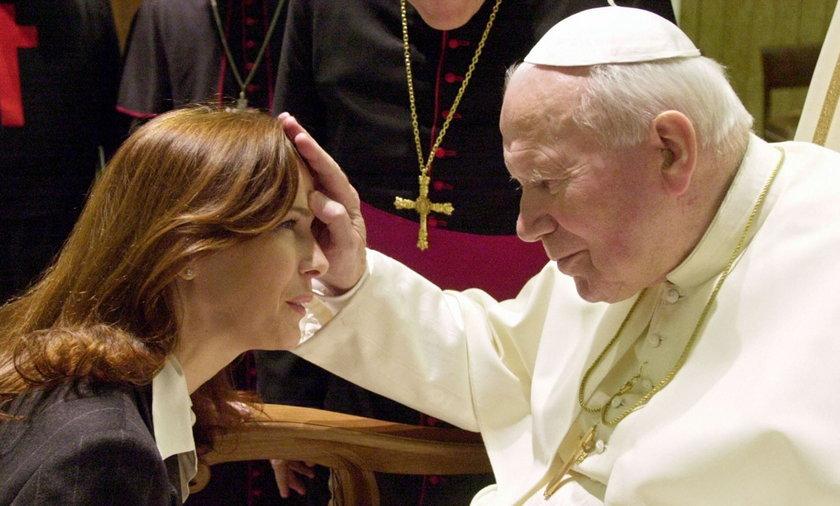 papież ze znanymi osobami