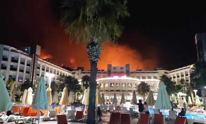 Widok z hotelu był przerażający.