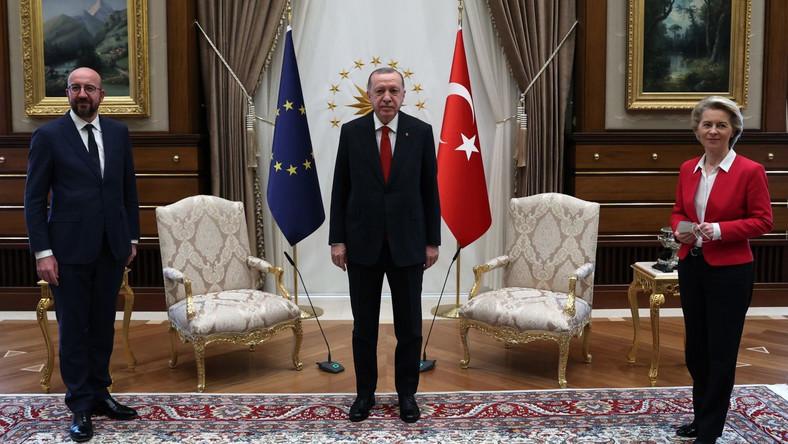Charles Michel Recep Tayyip Erdogan Ursula von der Leyen