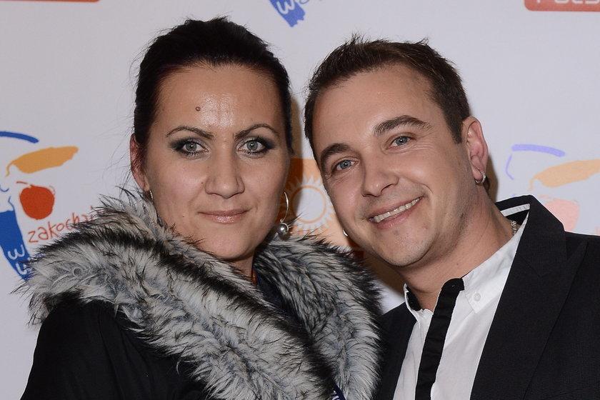 Radek Liszewski z żoną Dorotą