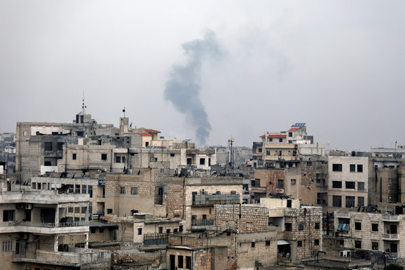 Bombardovanje gradića Sarmina kod Idliba