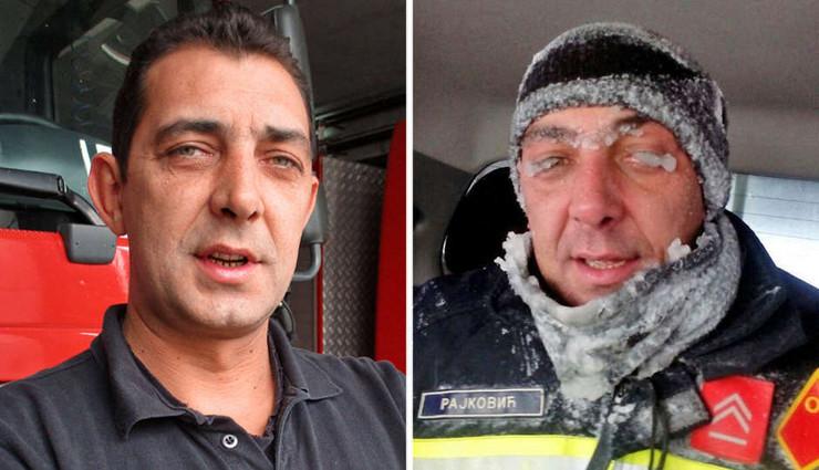 vatrogasac miodrag rajković zaleđene trepavice kombo foto RAS Srbija