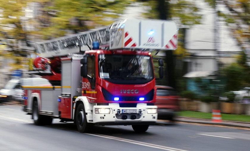 Pożar w Nowej Hucie w Krakowie.
