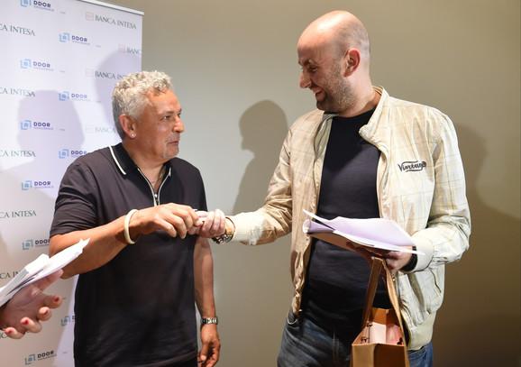 Roberto Bađo sa novinarom
