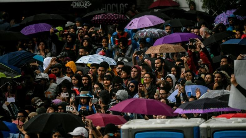 A sea of protesters quickly took over the center and north of Colombia's capital Bogota, pushing for changes in conservative President Ivan Duque's agenda