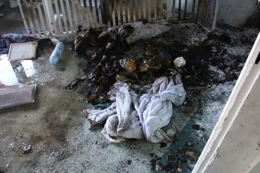Tragedia w szpitalu w Kutnie. Mężczyzna zginął w pożarze