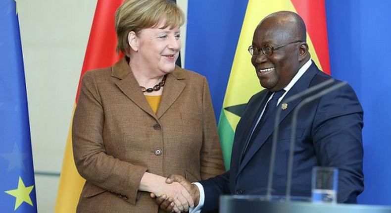 Nana Addo with Angela Merkel