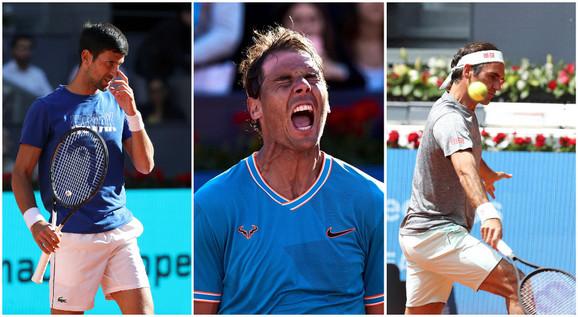 Velikani: Novak Đoković, Rafael Nadal i Rodžer Federer