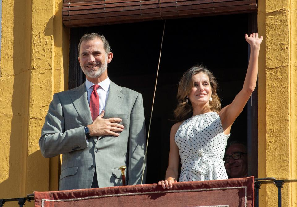 epa06898133 - SPAIN ROYALTY (Spanish royal couple visit Bailen)