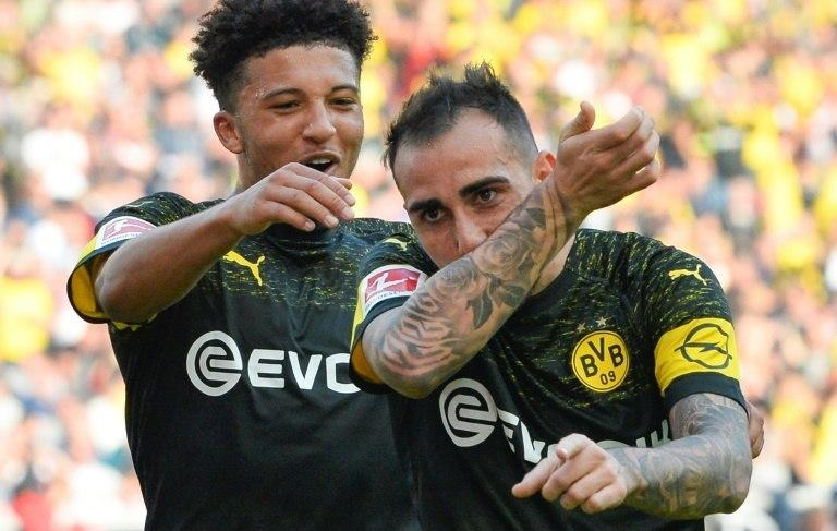Paco Alcacer has scored seven goals in just four games for Borussia Dortmund while England winger Jadon Sancho has claimed four goals