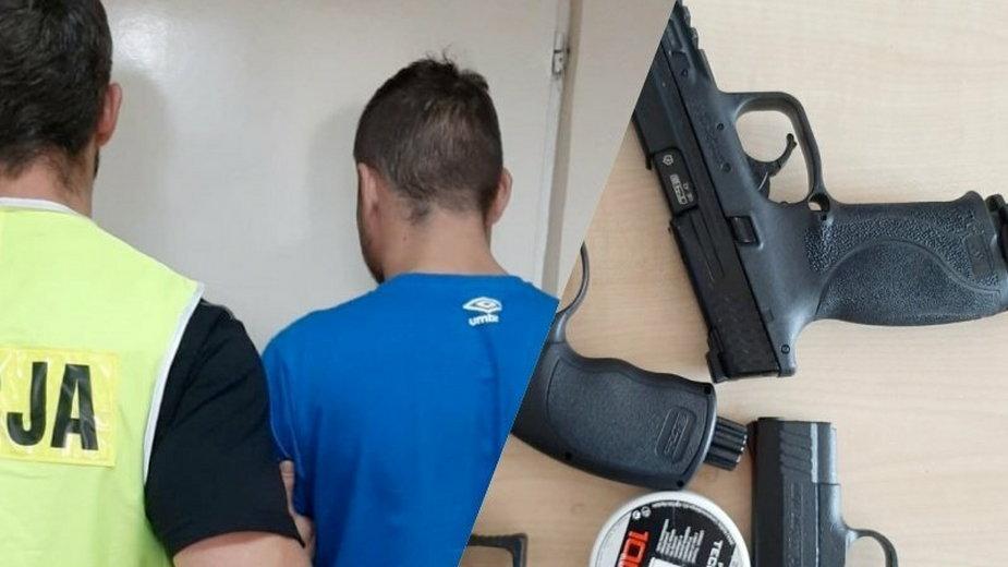 Najpierw ukradł broń. Wpadł w czasie rozboju