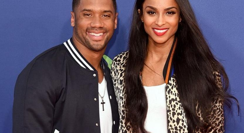 Ciara and Russell Wilson at the 2015 Kids Choice Sports Awards in Los Angeles