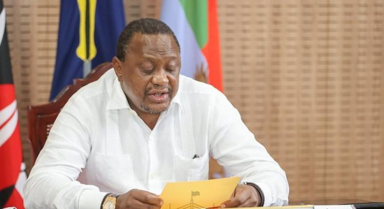 President Uhuru Kenyatta during the Sixth Extraordinary Session of the National and County Governments Co-ordinating Summit