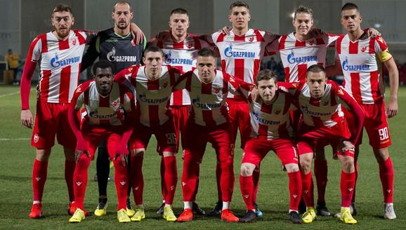 Fudbaleri Crvene zvezde na meču sa Nordhauzenom