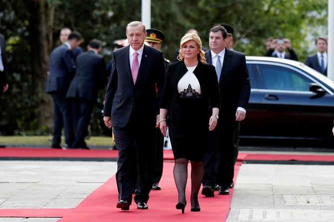 Sa predsednikom Turske 2016. u Zagrebu