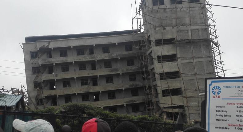 Kinoo building collapsing