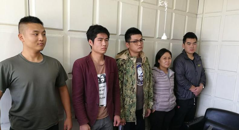 5 Chinese Nationals arrested with Dangerous items threatening national security