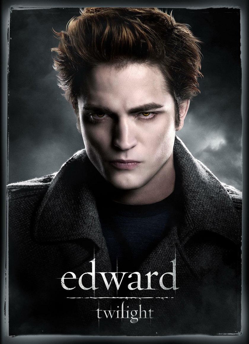 "Robert Pattinson na plakacie filmu ""Zmierzch"""