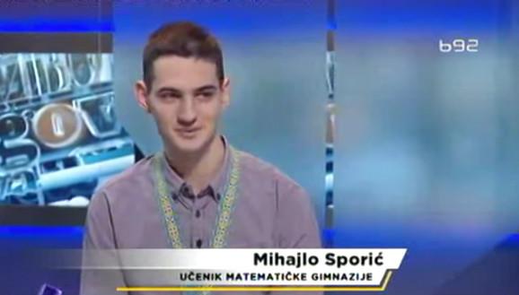 Mihajlo Sporić, gostovanje u emisiji Kažiprst