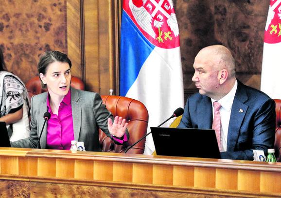 Ana Brnabić i Nenad Popović