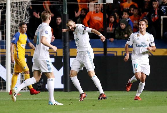 Karim Benzema slavi na Kipru