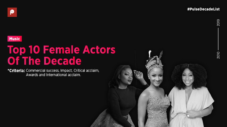 Several Nollywood female actors distinguished themselves in the decade but 10 remain unique with their role interpretations