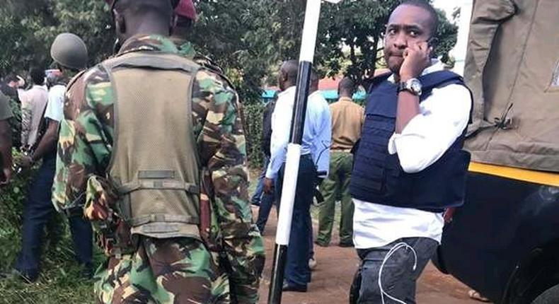 Politician Steve Mbogo causes a stir posing with guns at Dusit Hotel where Al Shabaab carried out an attack