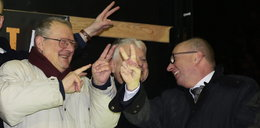 Tak opozycja bawiła się w sylwestra pod Sejmem