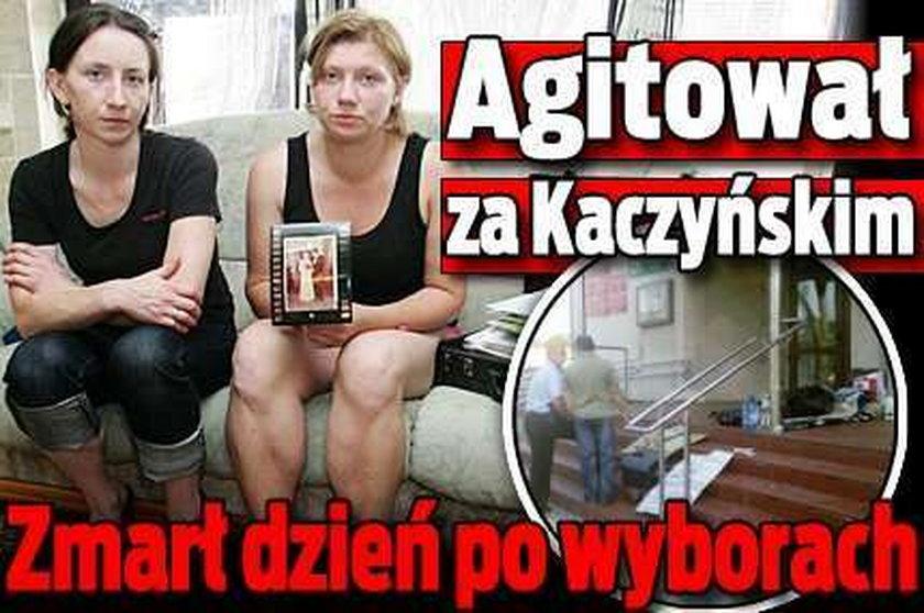 Agitował za Kaczyńskim. Zmarł dzień po wyborach