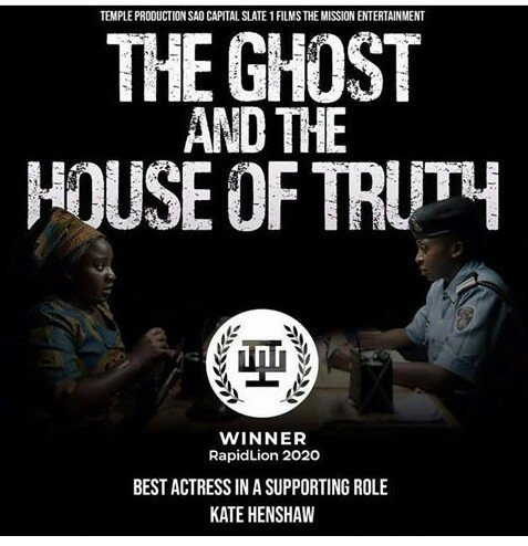 Kate Henshaw announced her 'Best Actress in a Supporting Role' Rapid Lion 2020 win for her 'The Ghost and The House of Truth'